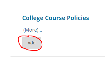 add college course policies