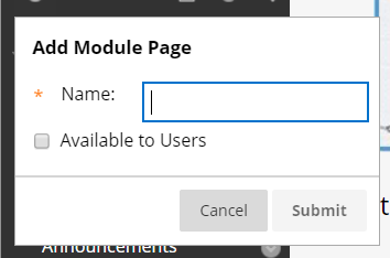 name module page