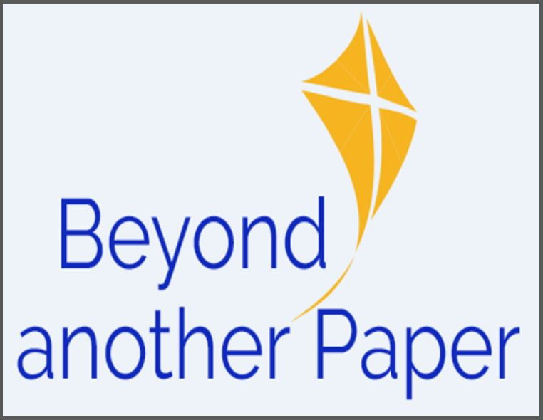 Beyond another Paper - words and yellow kite